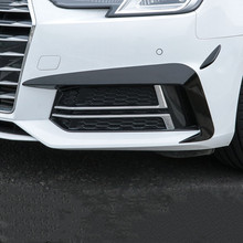Car-Styling Front-Bumper-Spoiler Air-Knife Carbon-Fiber Audi A4 Stickers Exterior-Accessories