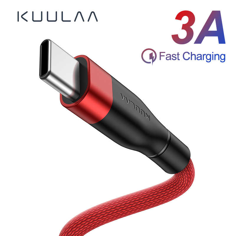 KUULAA USB Type C Cable For Xiaomi Mi Redmi Note 7 Quick Charge USB C Charger Type-C Fast Charging Cord For Samsung Huawei Phone
