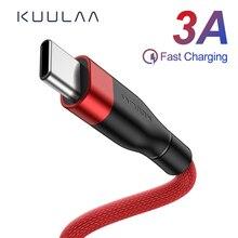 KUULAA Cable USB C Tipo C Cable de Carga rápida adaptador cargador de teléfono USB C carga de Cable para Samsung XiaoMi Mi 8 9 Huawei LG Google