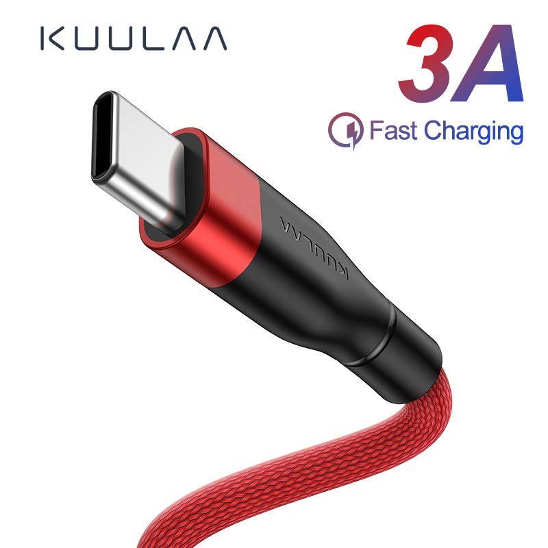KUULAA USB Type C Cable For Xiaomi Mi Redmi Note 7 Quick Charge USB C Charger Type C Fast Charging For Samsung S9 S8 USBC Cable-in Mobile Phone Cables from Cellphones & Telecommunications