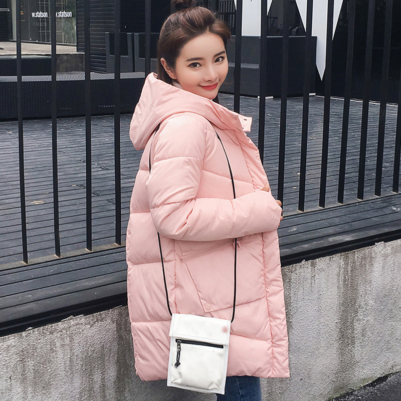 Parka   Women 2020 Winter Fashion Female Jacket Coats Plus Size Hooded Thick Cotton Padded Lining Solid Winter Female Coats