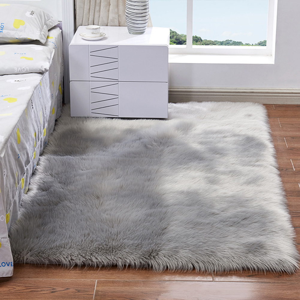 Carpet Area-Rug Rectangle-Decoration Bedroom Faux-Fur Floor Living-Room Hallway Fluffy