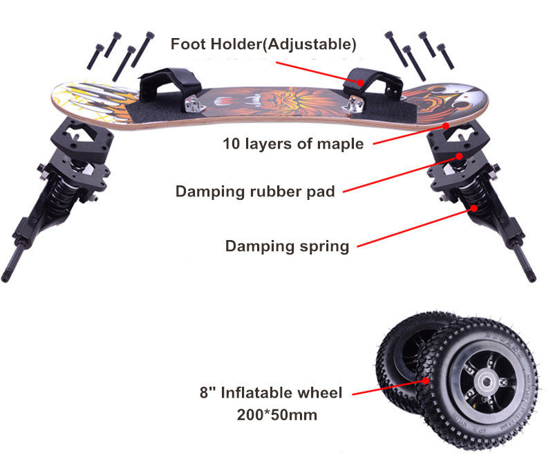 skate dirtboard montanha peças caminhões
