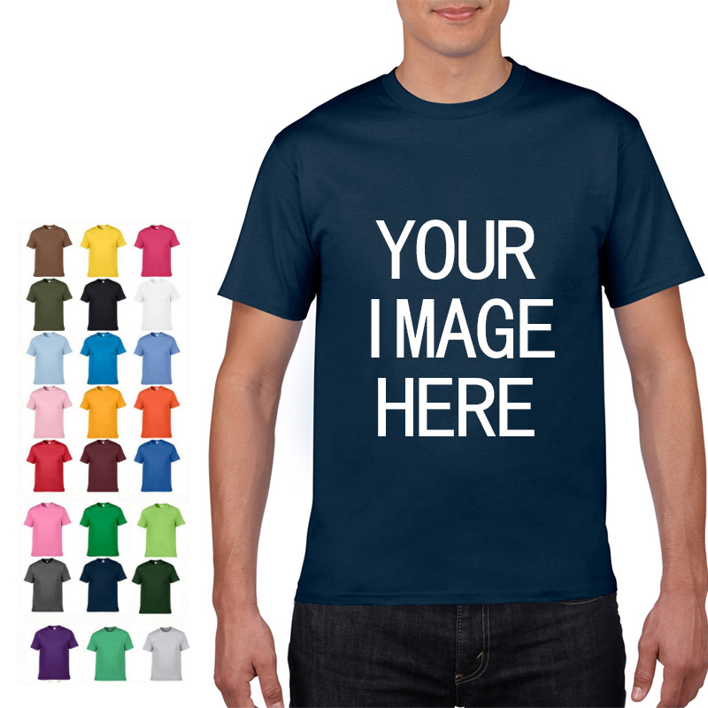 NO LOGO Price Cotton Short Sleeve Solid Color O-neck T-shirt Tops Tee Customized Print Your Own Design Printed Unisex Tshirt