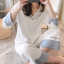 2pcs Pyjamas Band Winter Women Sets V Neck Thick Warm Cartoon Animal Pijama nightgown Sleepwear  Nightwear Suit