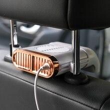 Автомобильный мини-вентилятор на заднее сиденье с USB, складной бесшумный вентилятор, регулируемый автомобильный кулер с тремя уровнями ско...