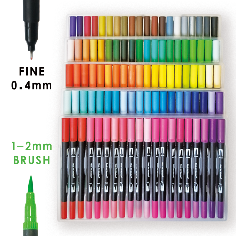 Ultimate Deal¹Art-Markers-Pen Brush-Tip Lettering Coloring-Books Fine-Tip Calligraphy Adult 120-Color