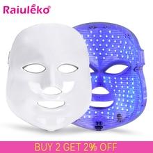 7 Colori Led Maschera per Il Viso Mascara Estetica Del Viso Cura Della Pelle Ringiovanimento Rughe Acne Rimozione Viso Strumento di Bellezza