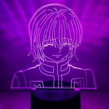 3d lampka nocna Anime Hunter X Hunter dla dzieci dziecko dekoracja sypialni Nightlight Dropshipping Manga prezent Hunter X Hunter lampka nocna tanie tanio NoEnName_Null Night Light cartoon CN (pochodzenie) Z tworzywa sztucznego Żarówki led Touch 110 v 220 v Suche baterii HOLIDAY