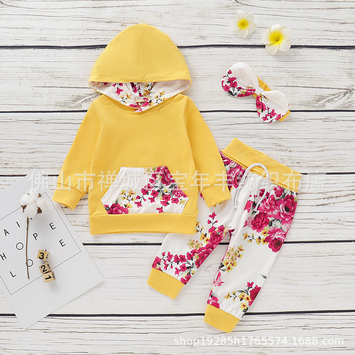 Children's Clothing  Striped Long-Sleeved Casual Printing Hooded  set D09.21 3