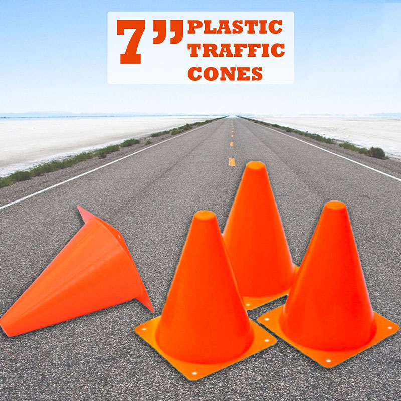 Hot Selling 12Pcs 18cm Dazzling Toys Traffic Orange Cones Marker Course Football Riding Excercise Supplies