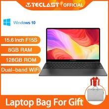 Teclast f15s 15.6 Polegada portátil windows 10 notebook 1920x1080 laptops intel apollo lago 8gb ram 128gb rom duplo wifi hdmi