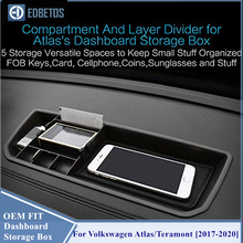 * Teramont Dashboard Lagerung Box Organizer Für Volkswagen Atlas 2018 2019 Innen Telefon Halter Center Konsole Fach