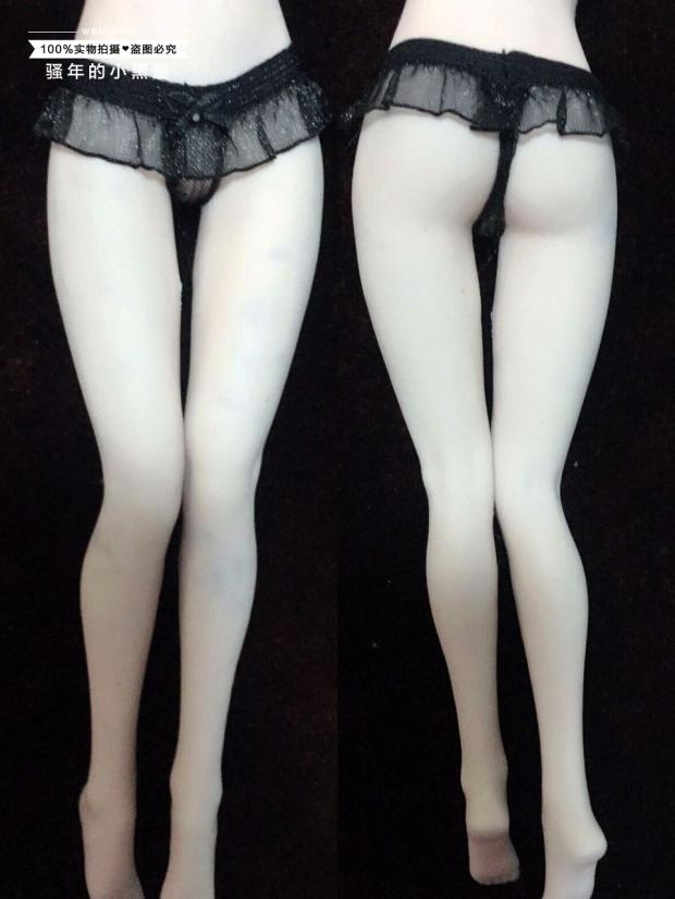 "1//6 Scale Custom White Thong Bikini Underwear Model For 12/"" Female Body Doll Toy"