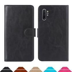 На Алиэкспресс купить чехол для смартфона luxury wallet case for samsung galaxy note10+ (exynos 9825) pu leather retro flip cover magnetic fashion cases strap