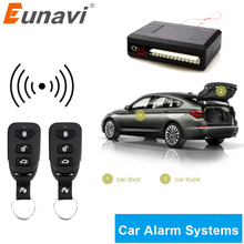 Sistema de alarme automotivo eunavi, kit central automotivo com controle remoto