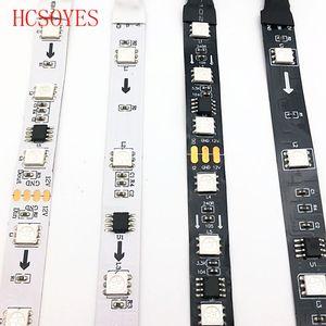 Image 3 - WS2811 30/60 diod led/m 5050 SMD taśmy RGB AddressableLed piksele zewnętrzny 1 ic sterowanie 3 diody led 5m/rolka 16.5ft DC12V