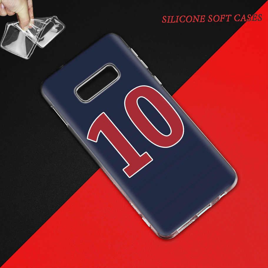 フットボール番号 10 サムスンギャラクシー S10 5 グラム S10e S9 S8 注 10 8 9 J4 J6 プラス m40 M30 M20 M10 ソフト電話 Coque 嚢高級