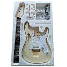 Kit de guitarra eléctrica DIY Premium-Kit de guitarra para proyecto sin terminar