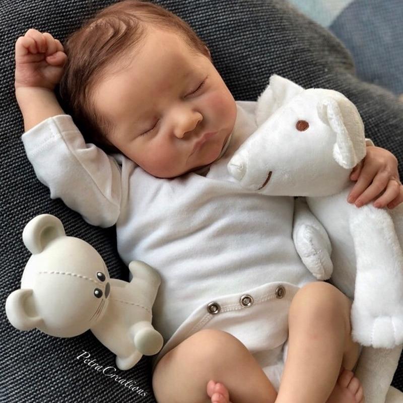 Комплект для новорожденного, 17 дюймов, комплект для новорожденного ребенка, виниловые неокрашенные детали для незавершенной куклы, набор д...