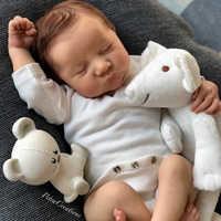 Kit de bebé Reborn de 17 pulgadas, Kit de bebé Reborn de vinilo Levi sin pintar, piezas de muñeca sin terminar, Kit de muñeca en blanco DIY