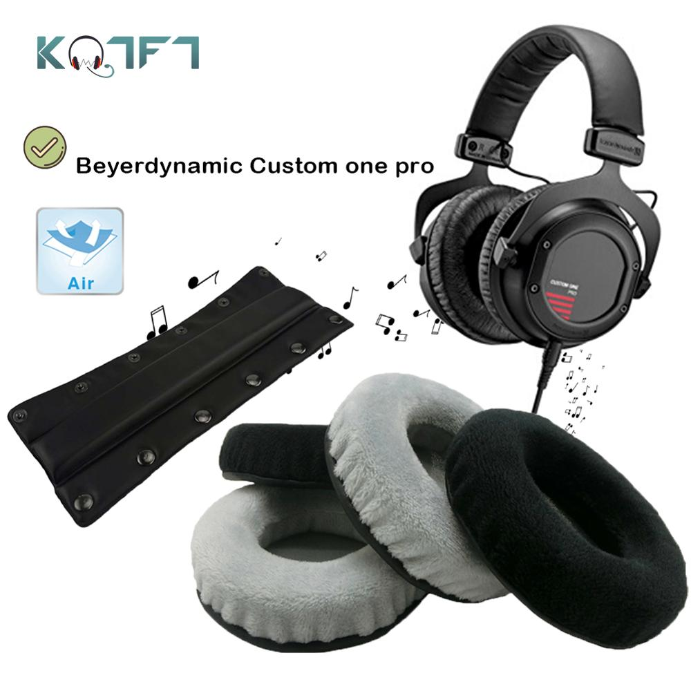 KQTFT Velvet Replacement Parts For Beyerdynamic Custom One Pro EarPads Earmuff Cover Cushion Cups  Bumper Headband Sleeve