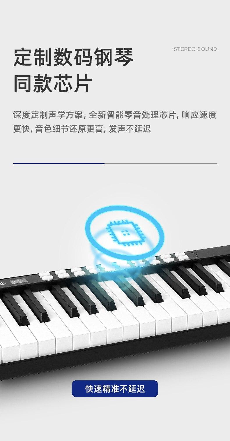 Piano digital portátil com 88 teclas, controlador