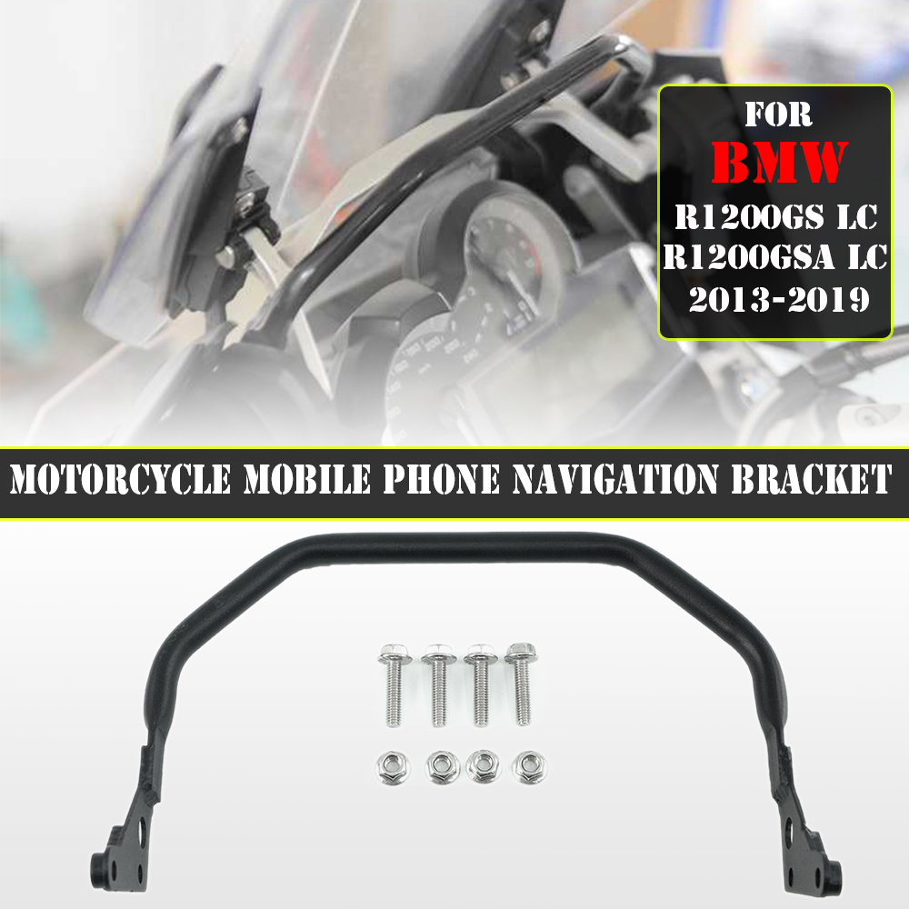 For BMW R1200GS R1200 GS GSA ADV LC R 1200 Adventure 2013-2019 Motorcycle Mobile Phone Navigation Handlebar Bracket Support 12MM