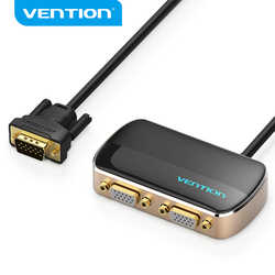 Vention VGA Splitter 1080P VGA Switch 1 In 2 Out VGA Male to Female Switcher Cable for Projector Monitor VGA Splitter Adapter