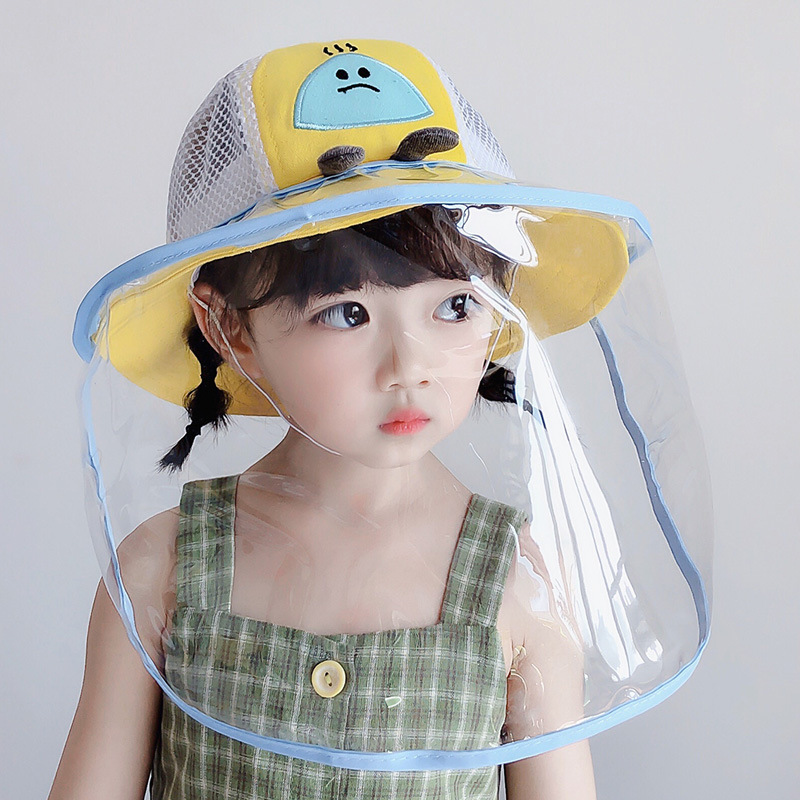 Kids Dust Face Cover Cap Anti-Fog Windproof Hat Anti-saliva Spreading Prevent Child Eye Full Face Protection Adjustable Size