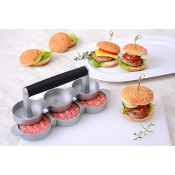 Three-hole Burger Meat Press Burger Press Meat Filling Burger Press Kitchen Tool FDA approved completely non stick coating фото