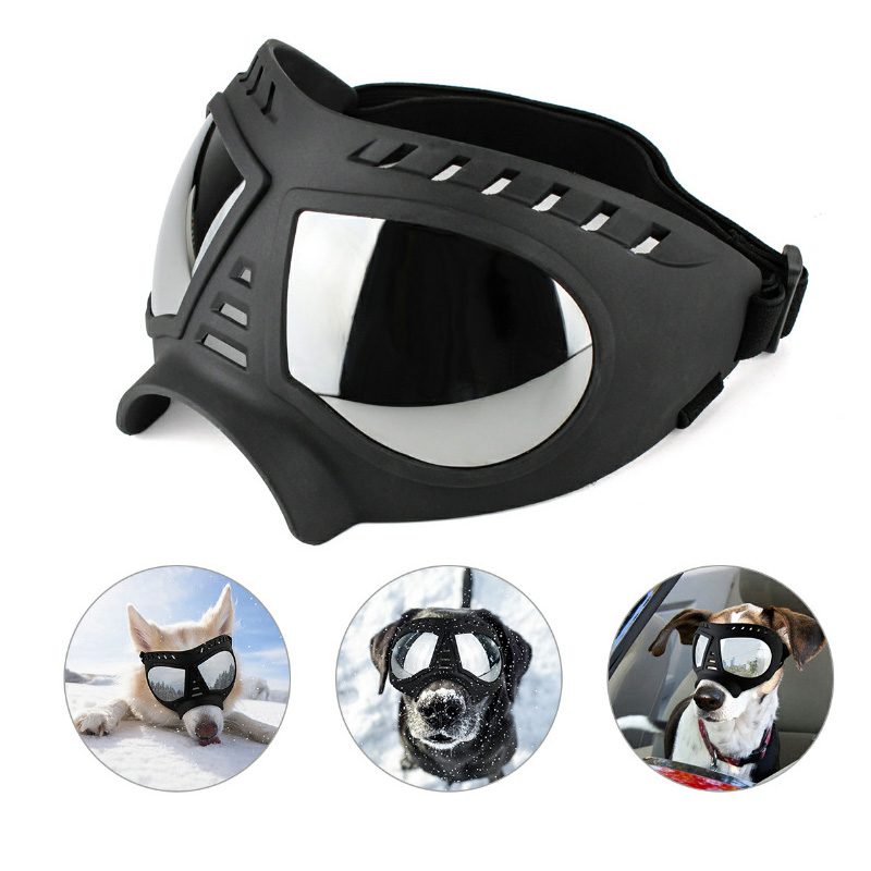 Adjustable Pet Dog Goggles Sunglasses Sunproof Windproof Snow Free Size Eye Wear Swimming Skating Glasses