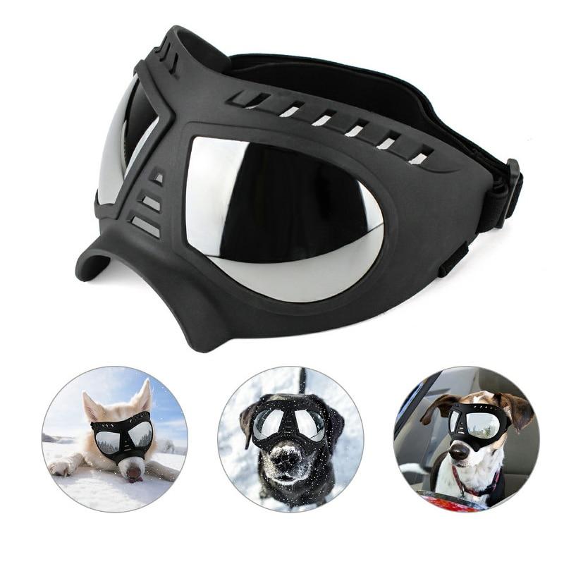 Adjustable Pet Dog Goggles Sunglasses Sunproof Windproof Snow Free Size Eye Wear Swimming Skating Glasses
