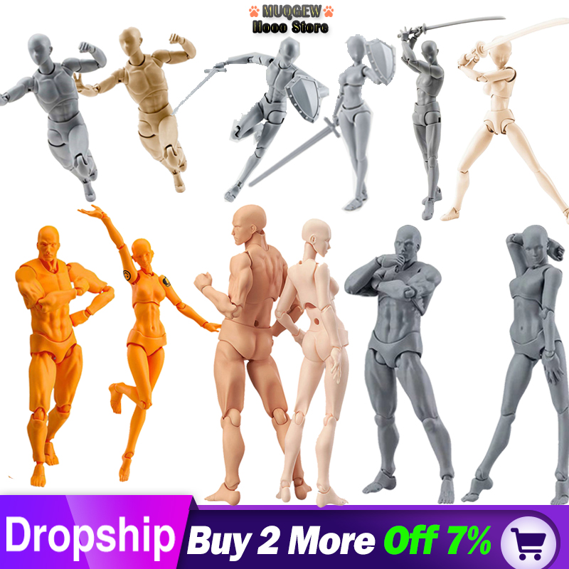 3D Drawing Mannequin Man And Woman Set Action Figure Toys Draw Figures Figurine Figures For Artists Action Figure Model Human