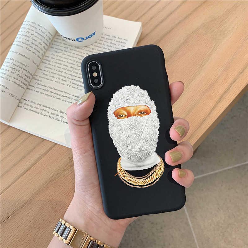 גליטר רעול פנים פנים טלפון מקרה עבור סמסונג S20 S10 S9 S8 בתוספת S10E s7 הערה 10 8 9 בתוספת A51 a71 A40 A30 A50 A70 A8 A5 רך מקרי