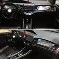 Для Honda Jade 2013-2019 внутренняя Центральная панель управления дверная ручка 3D/5DCarbon Fiber наклейки для автомобиля Стайлинг Аксессуары