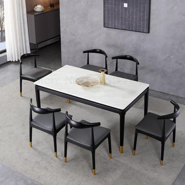 Warp Shape Black Restaurant Chair 2