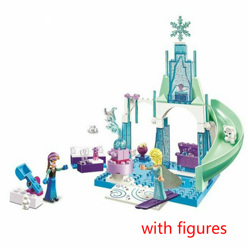 10665 Snow Queen Arendelle Ice Castle Building Blocks Princess Anna Elsa Playground Compatible with Friends Toys image