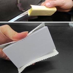 Image 1 - 20Pcs/Set Microfiber Cleaning Cloths 10x10cm Nano Ceramic Car Coating Kits Car Glass Coating Lint Free Cloth