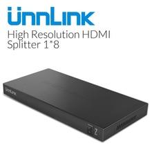 Unnlink HD mi splitter 1x8 1080p @ 60 hz Hd MI splitter 8 Porte box Auto Interruttore 1 in 8 Out Supporto cascade per la Smart TV LED mi scatola