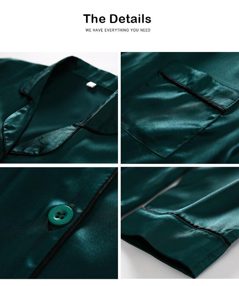 H3a91fa5a078d473182580d0ad3fb6617m JULY'S SONG 7 Piece Women Pajamas Set Stain Soft Pyjama Spring Summer Female Nightwear Solid Faux Silk Shorts Homewear 2020