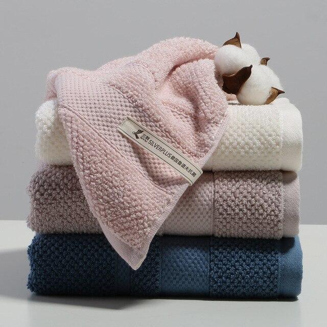 Cotton Towel 34*76cm 100g Antibacterial Towel Cotton Towel Plain Face Wash Towel