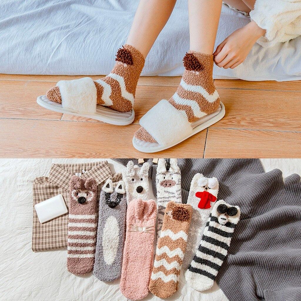 8pcs/pack Socks Women Girl Soft Bed Floor Socks Warm Winter Sleeping Socks Calcetines de invierno Warme Winterschlafsocken @7