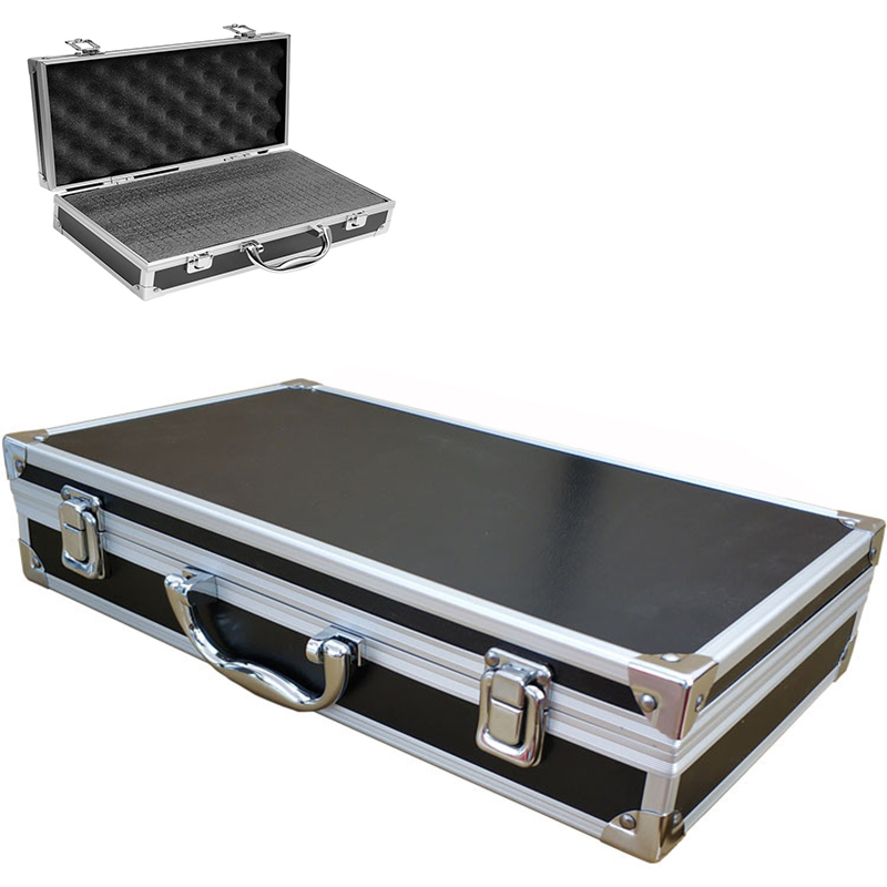 360x200x75mm Portable Aluminum Toolbox Equipment Instrument Case Outdoor Box Storage Tool Box With Pre-cut Sponge Lining