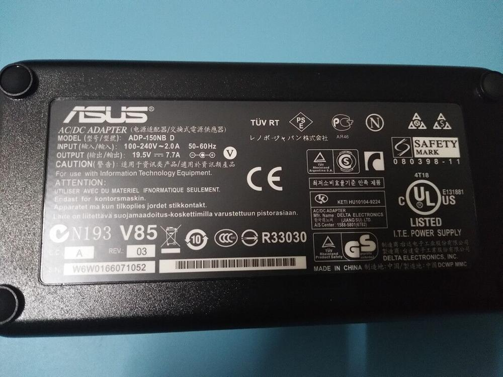 19,5 V 7.7A 150W зарядное устройство для ноутбука адаптер переменного тока для ASUS G73S G74 G53S G74S G53SX G74SX G72G ADP-120ZB BB ADP-150NB D источник питания