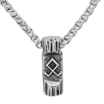 Nordic Viking Amulet Odin Symbol Rune Necklace with Valknut Gift Bag  Viking Necklace