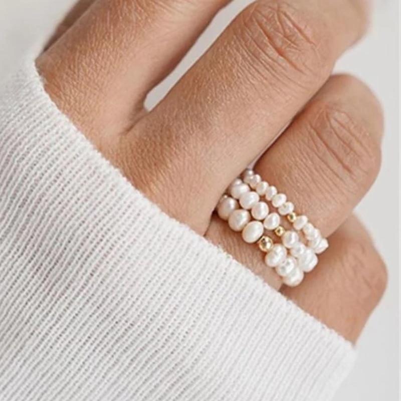 Момиджи естественная оболочка жемчужные кольца для женщин Регулируемый бисерной вышивкой кольца пара оптовая обручальные кольца кольцо и...