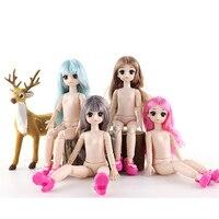 1/6 BJD кукла 21 совместный подвижный куклы 28 см куклы OB с 4D глазами Сменные DIY Детские куклы детские игрушки для девочек