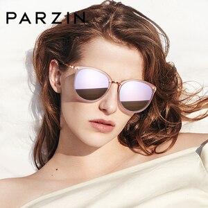 Image 5 - PARZIN Vintage Feminine Sun Glasses Polarized For Driving TR90 Oversized Sunglasses For Women Plastic Titanium