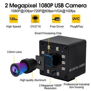 Image 2 - אינפרא אדום USB Webcam 1080P מלא HD MJPEG 30fps ראיית לילה IR לחתוך מיני USB מצלמה עם נוריות עבור אנדרואיד, לינוקס, Windows, מחשב